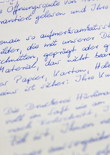 Handschrift Muster 2