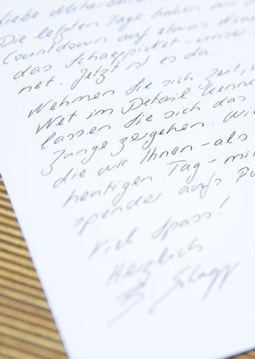 Handschrift Muster 7