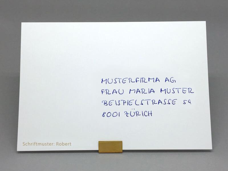 Couvert Schriftart Robert