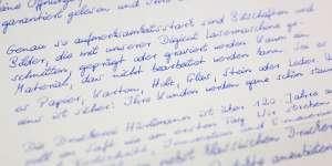 Handgeschrieben Einsatzbeispiel